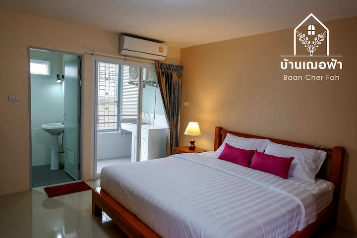 Baan Cher Fah 101, next to bus station, beach 150m