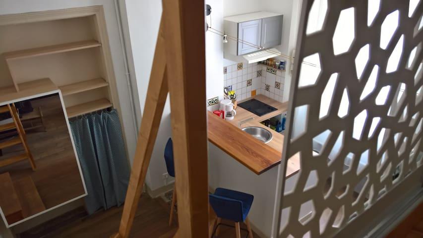 Quiet and cosy studio in the heart of Paris