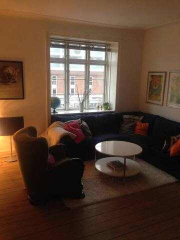 Simple room in central, cosy apartment - København - Flat