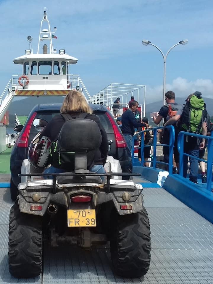 direction l'Espagne traversé  ferryboat