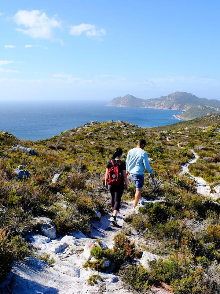 Hiking through beautiful Fynbos
