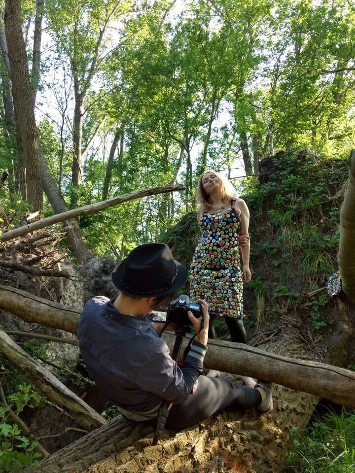 Shooting process in the woods