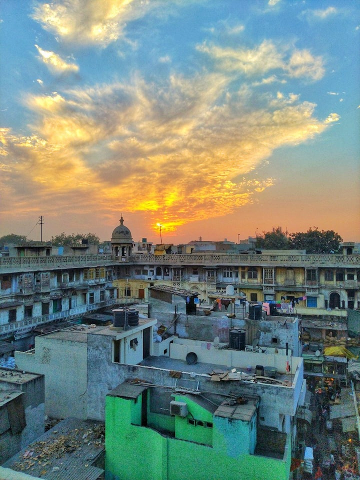 A View from Secret Roof  Top In Old Delh