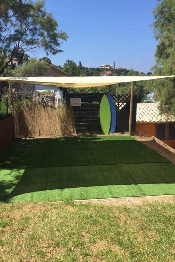 Yoga and Pilates outdoor space