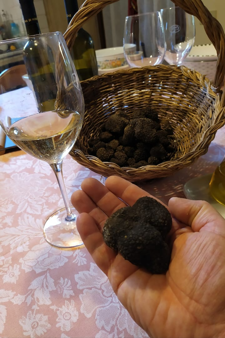 chianti wine and truffle