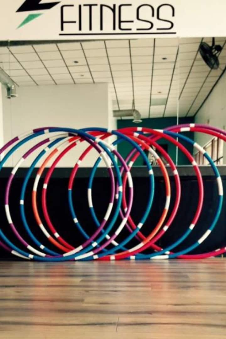 Weighted workout hoops