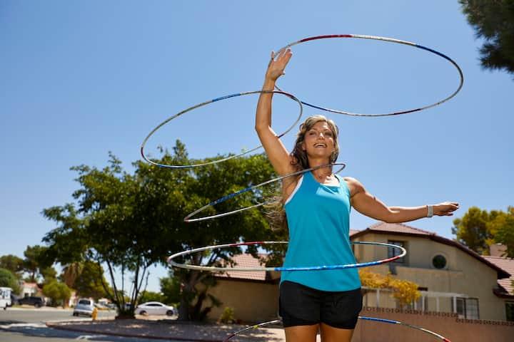 trick hula hooping