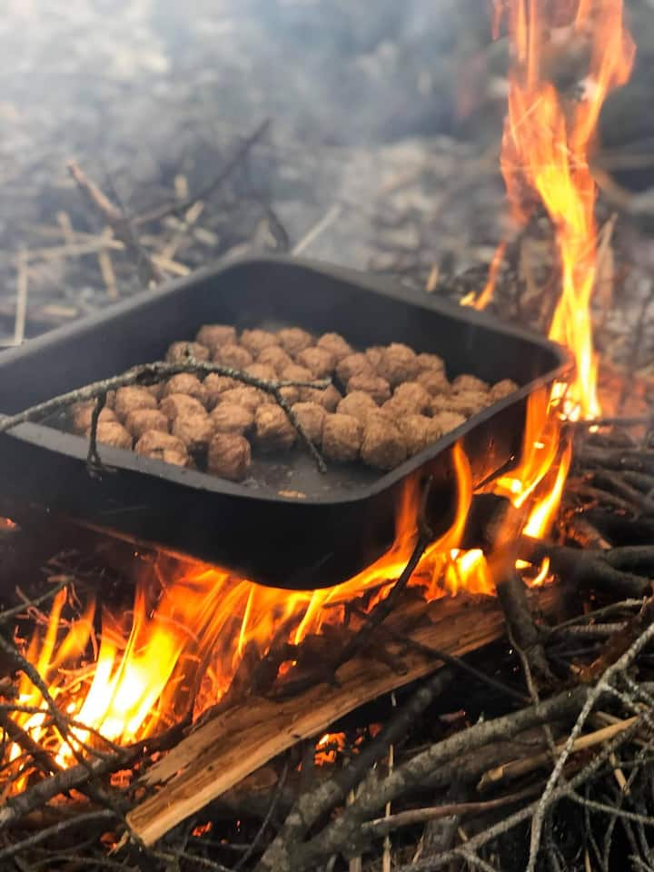 Organic Campfire Lunch