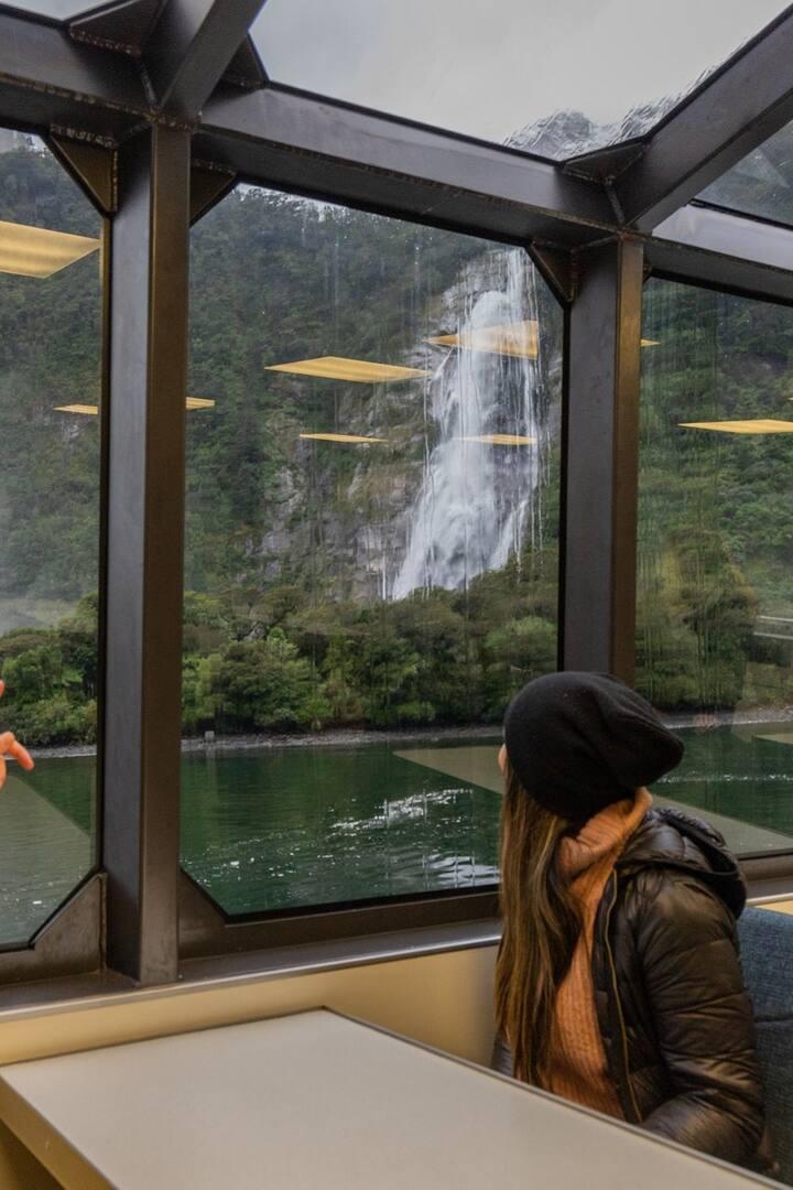 Enjoy a glass roof boat