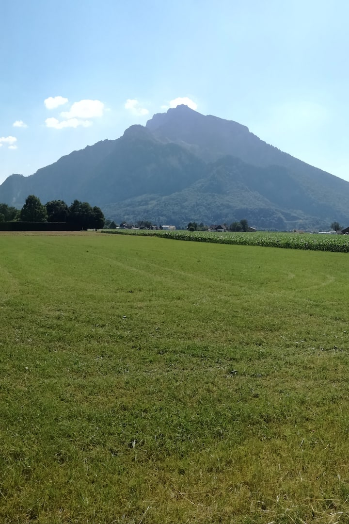 The beginning of the Austrian Alps