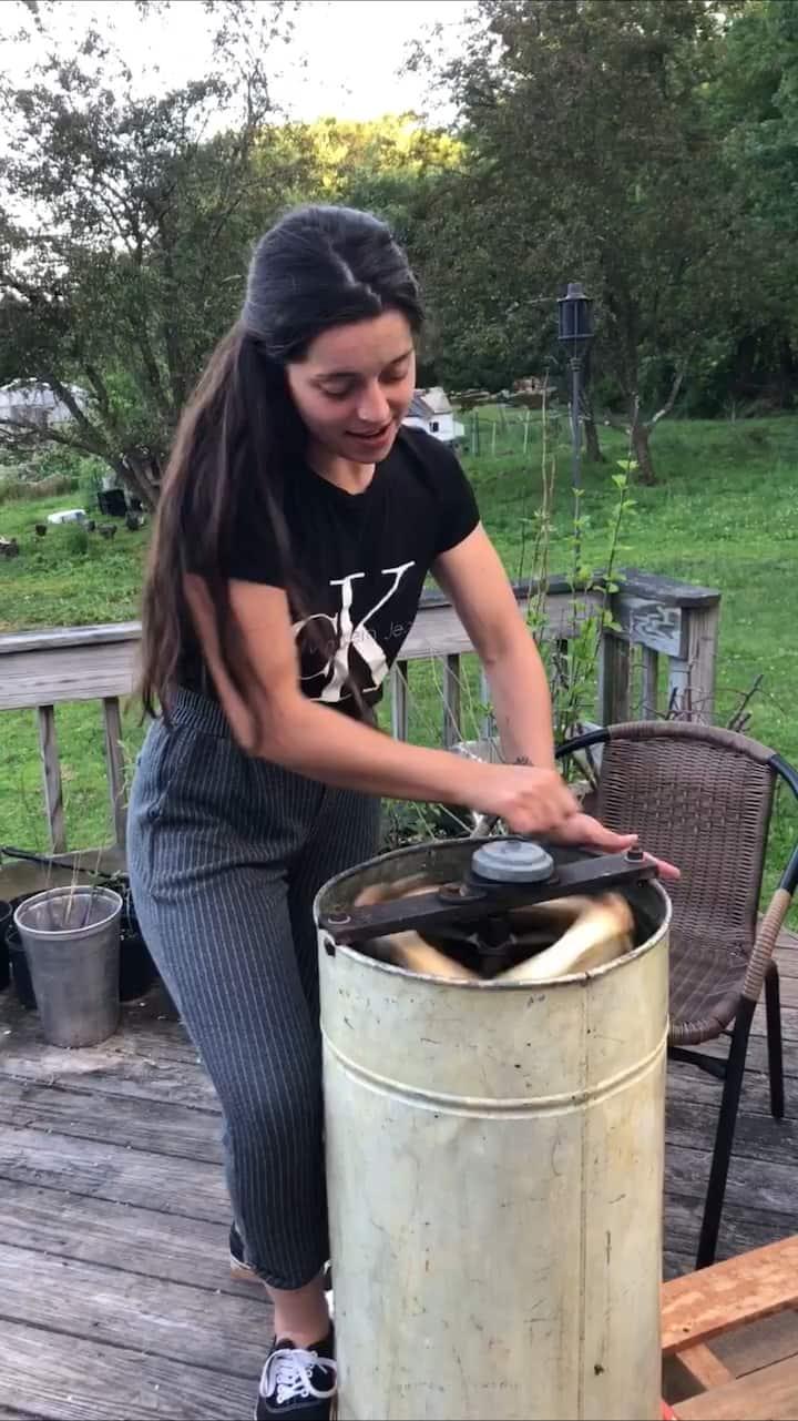 Spinning the honey for harvest