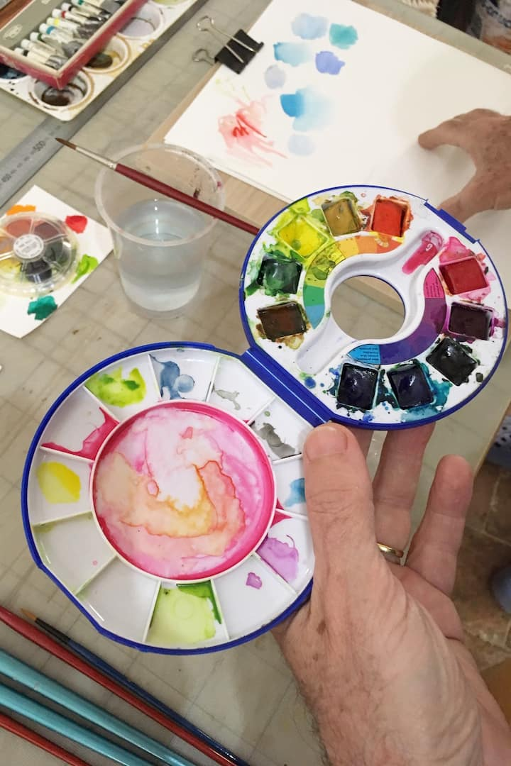 Talking about using water-colours