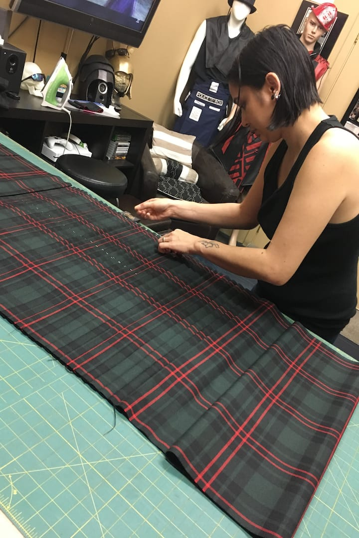 Making a traditional kilt