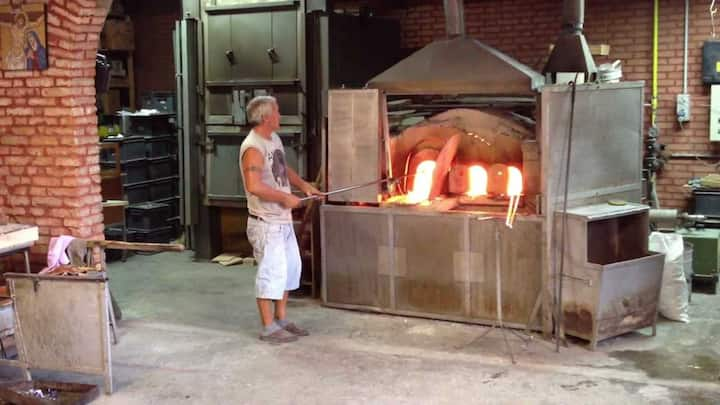 The glass factory in Murano