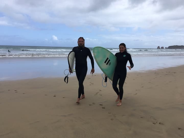 Surfing in a special Surf Spot