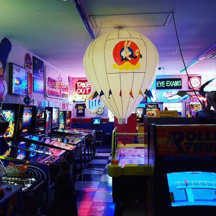 A nice arcade atmosphere