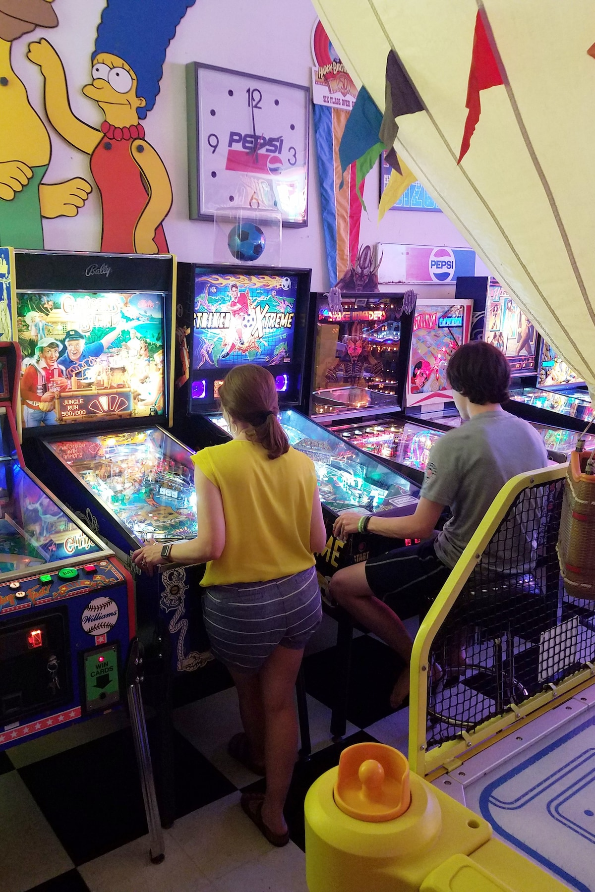 LARGE Play Pinball Arcade Banner Flag Poster