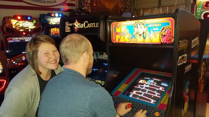 Couples love the arcade!