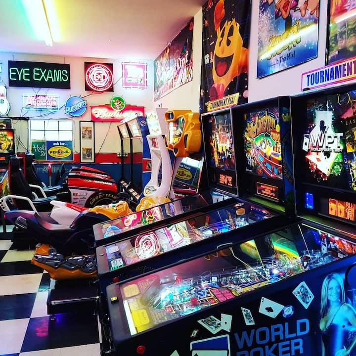 A few pinball games