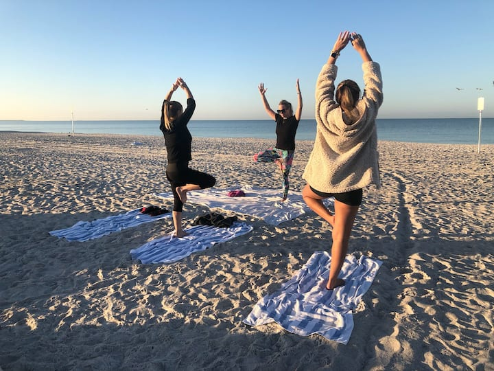 Private sunrise beach yoga 11/22/2019