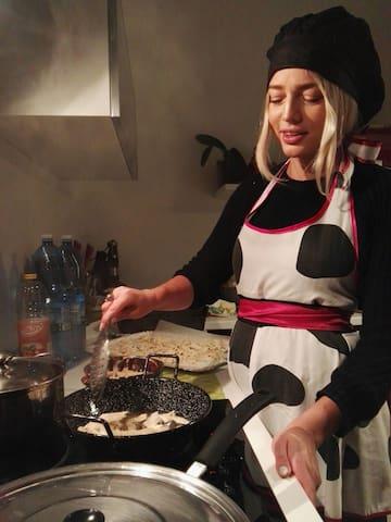 En la cocina