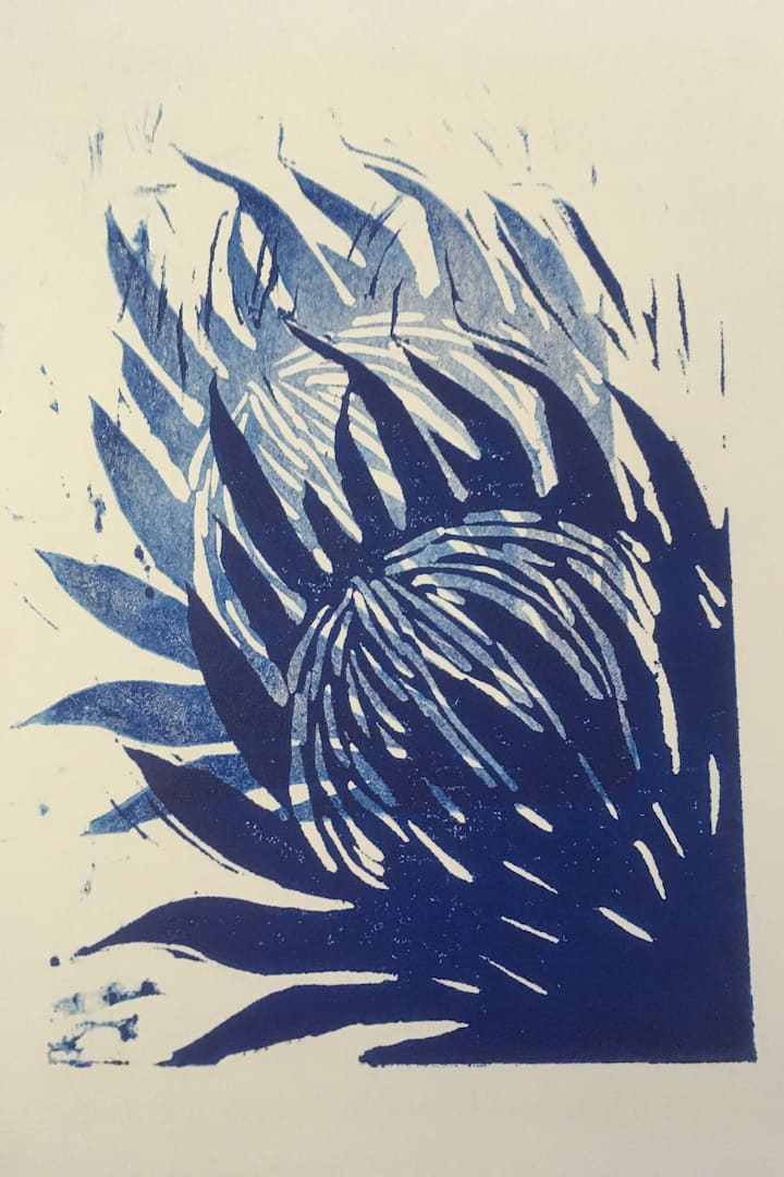 Finished relief  print