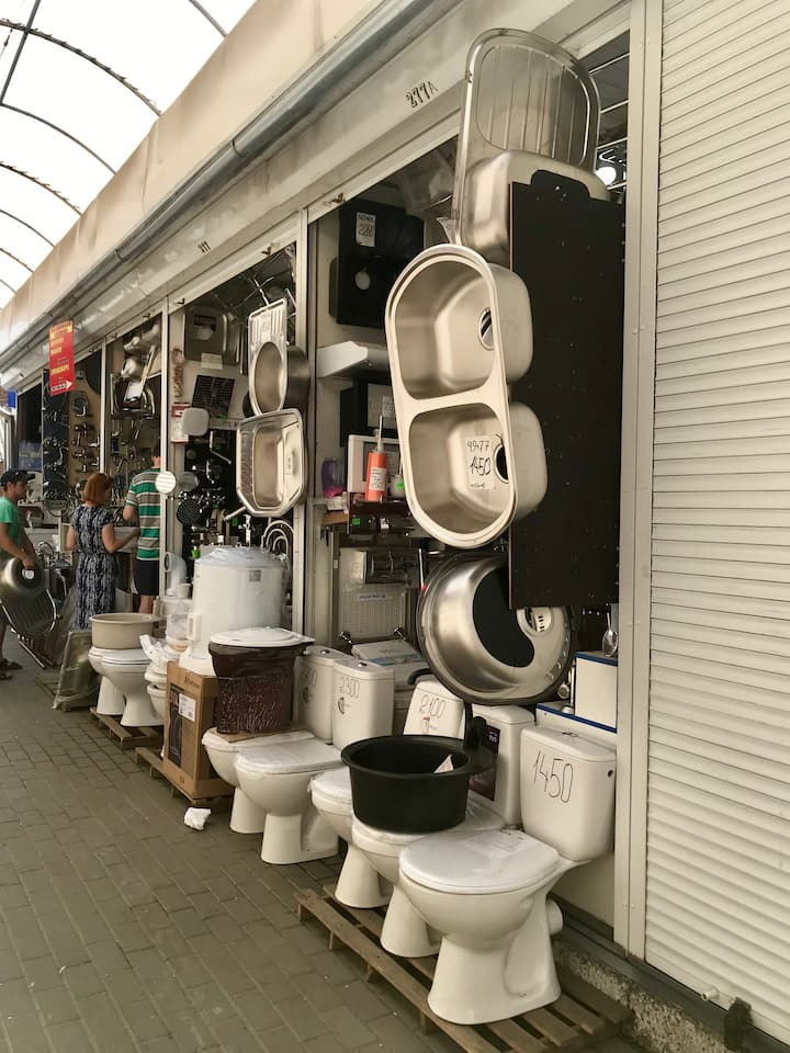 You can even buy a toilet here