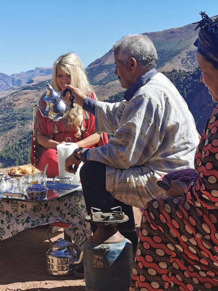 Lunch with a Berber family