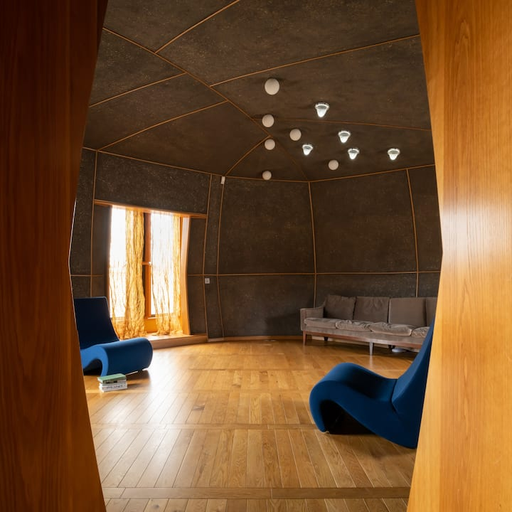 See the yurt-like living spaces