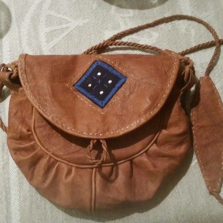 Beautiful handmade reindeer leatherpurse