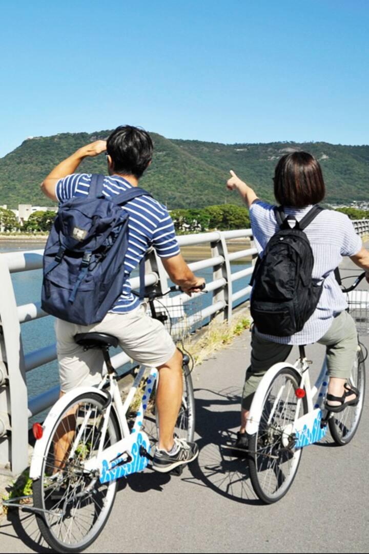 サイクリング途中で眺める屋島