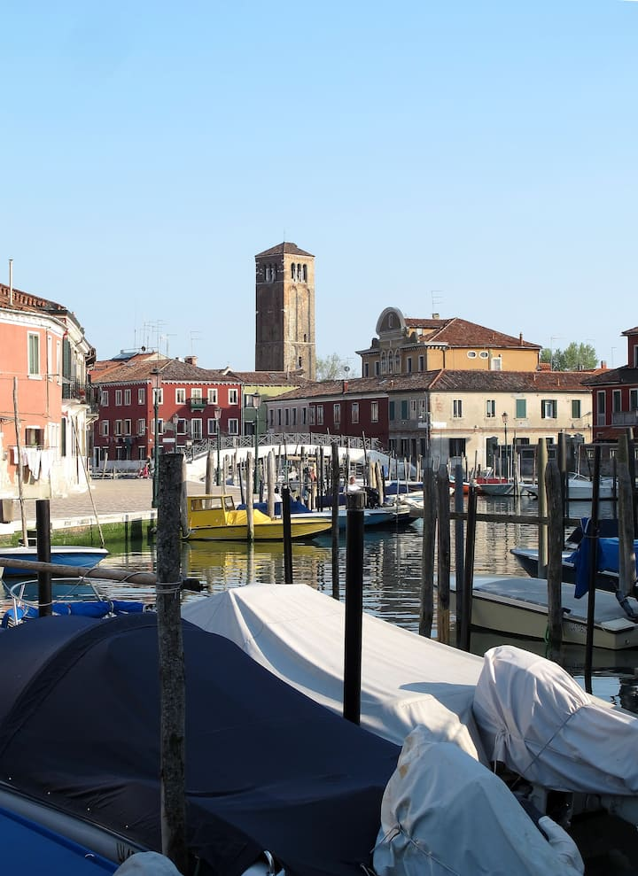 Murano, in front of my studio