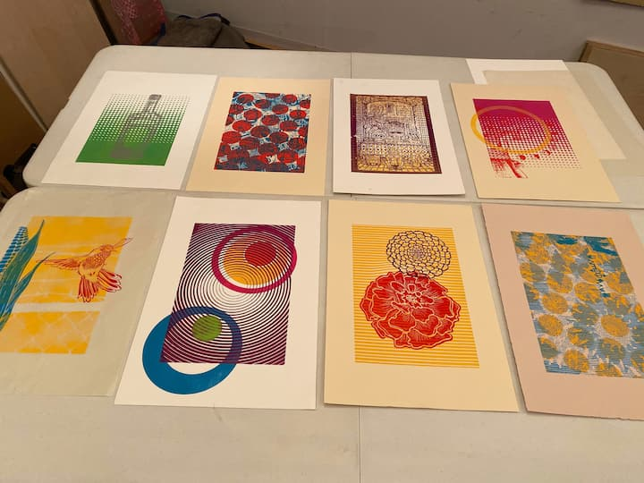 Prints made by experience participants!