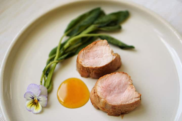 pork tenderloin, fried sage