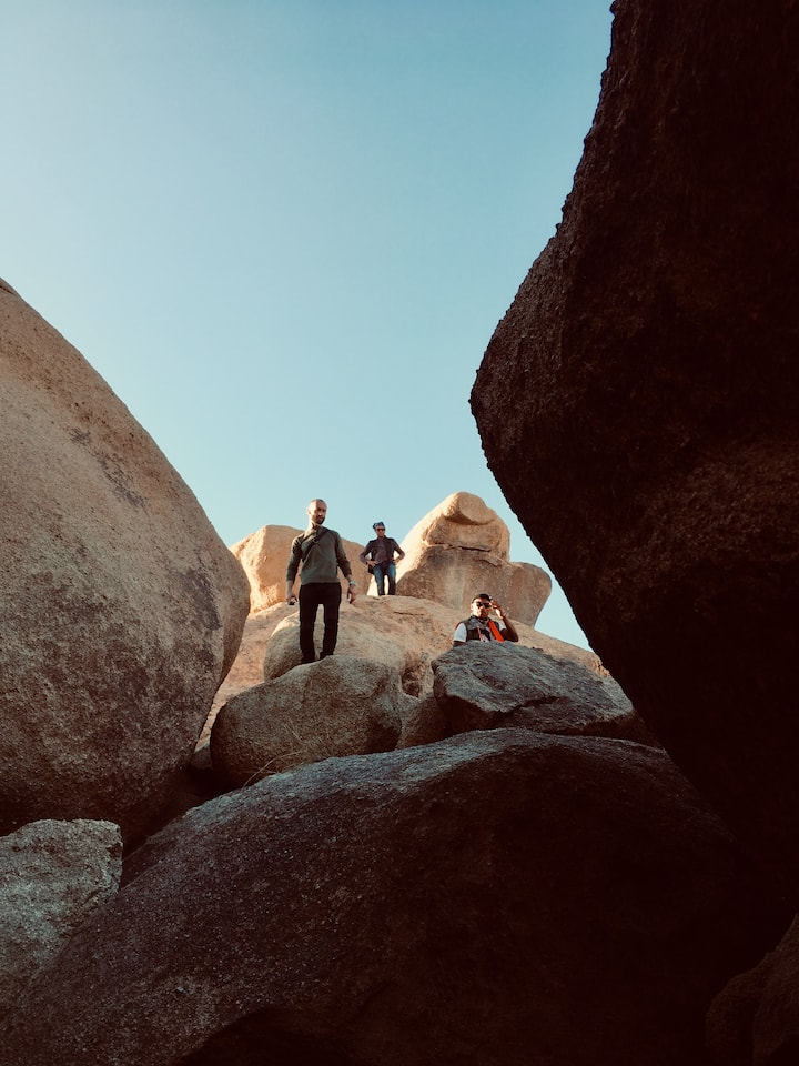 In the boulders