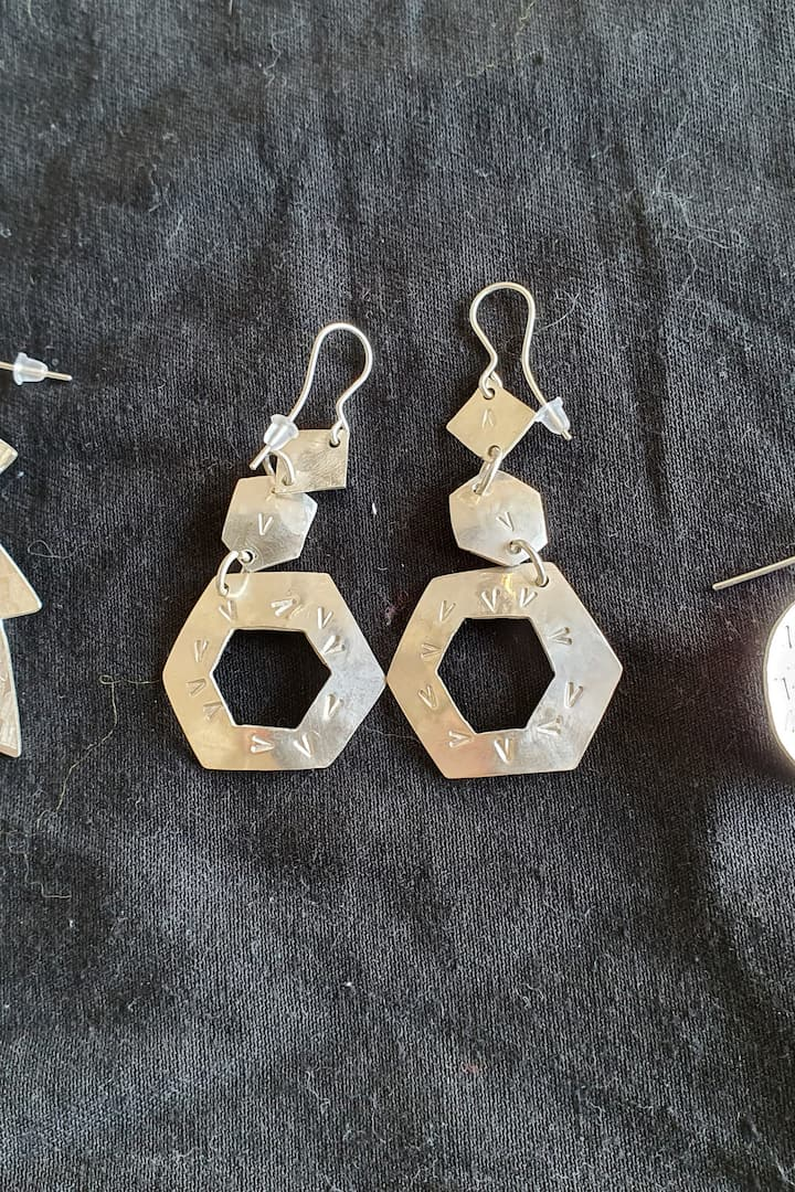 Earrings made by participants