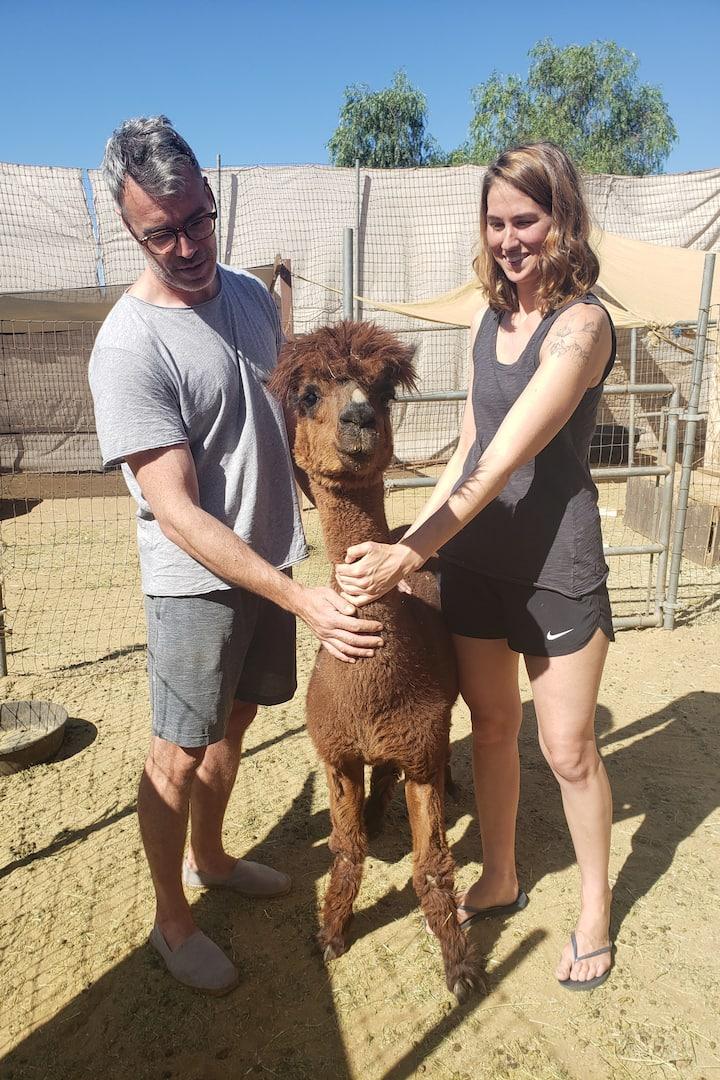 David and Zoe with Alfaba
