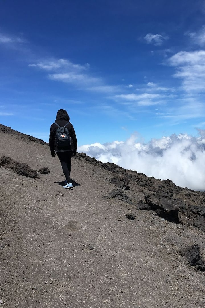 Hiking at the Cotopaxi