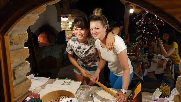 Same dough, different method : pizza