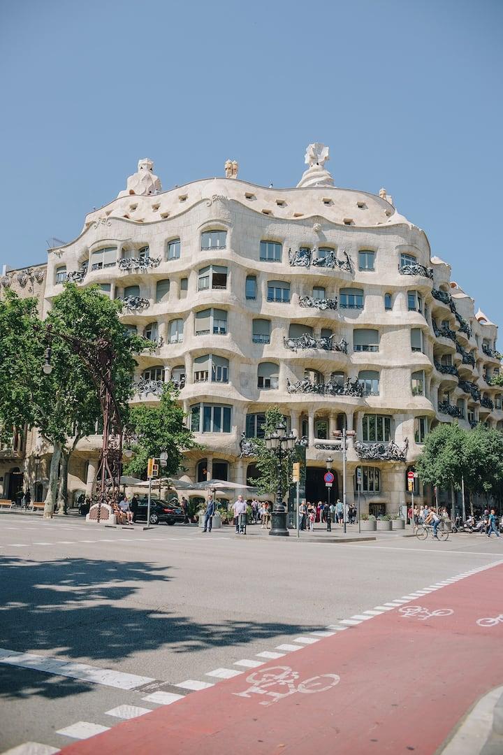 """The Casa Mila, known as """"La Pedrera"""""""