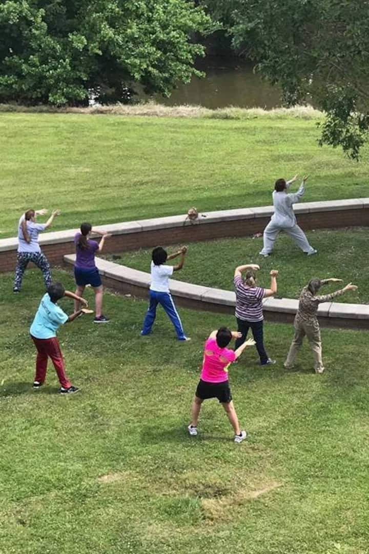 A group I led of outdoor Tai Chi