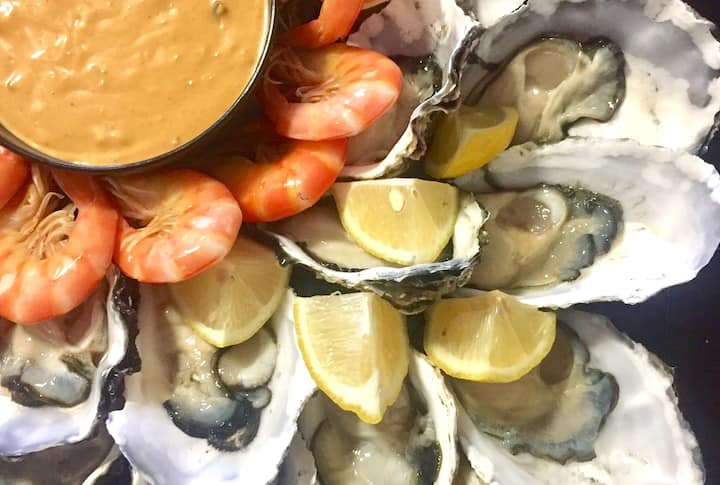 A delicious seafood platter