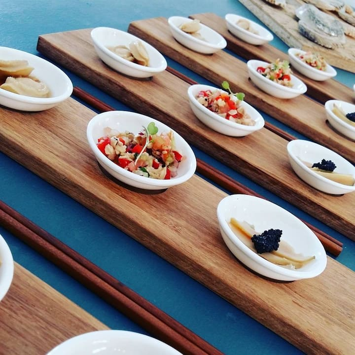 Abalone tasting platter