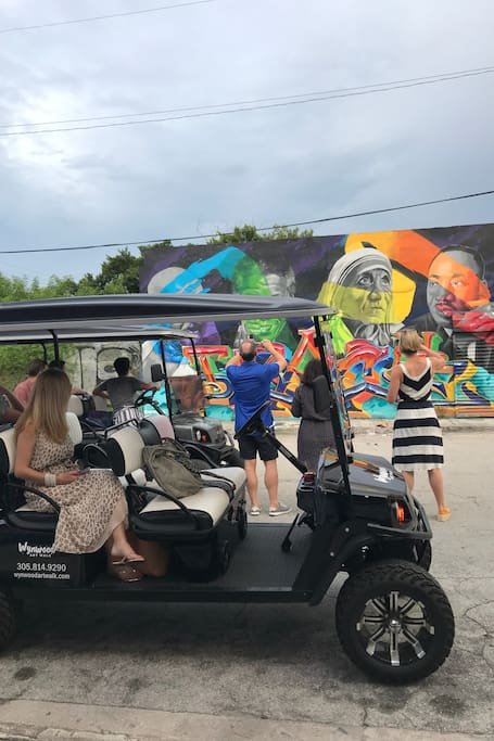 Unique Wynwood Graffiti Golf Cart Tour