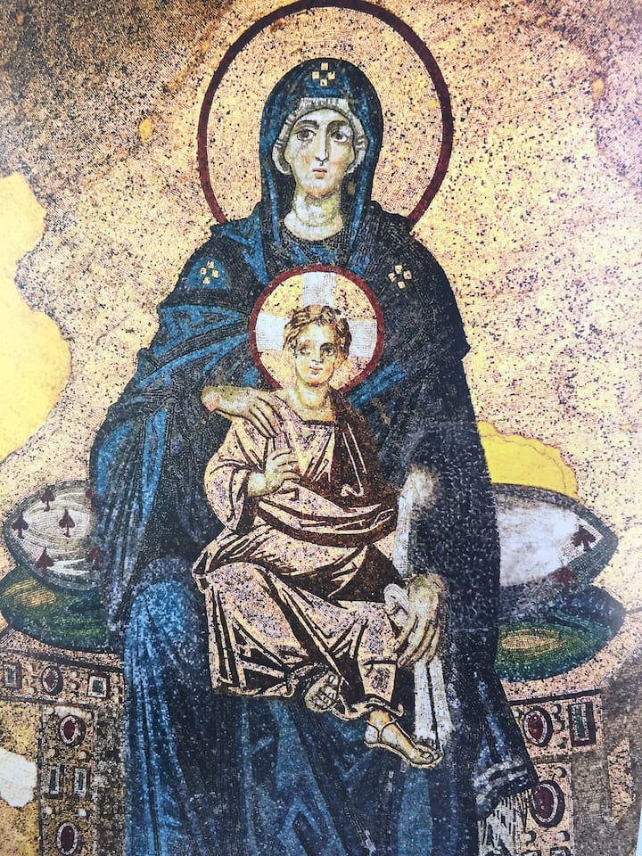 Marry and Jesus Mosaic