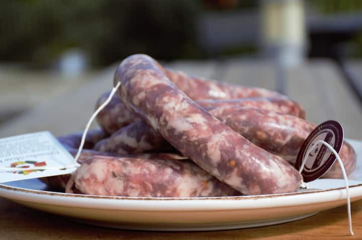 Fresh sausage for cooking