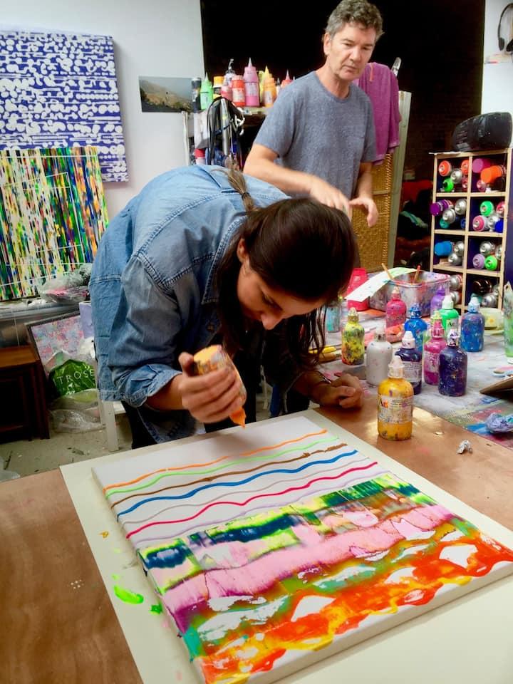 a guest creating her art!