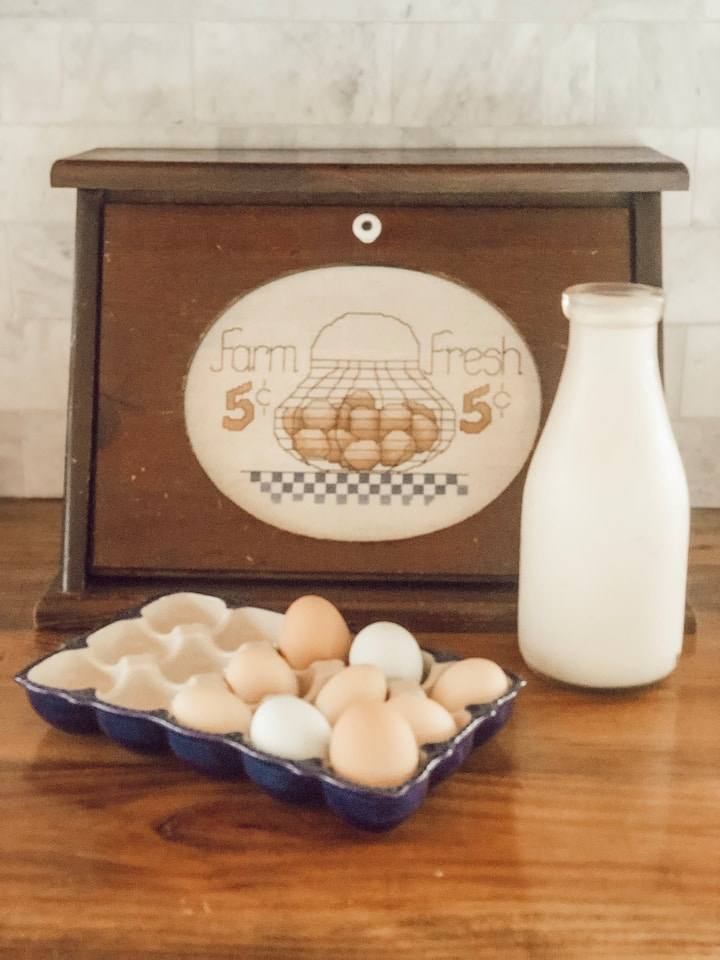 Try our goat milk & honey & collect eggs