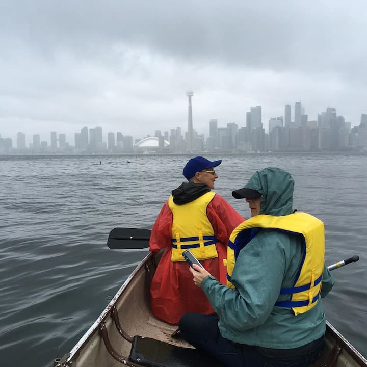 toronto skyline looks good even in rain