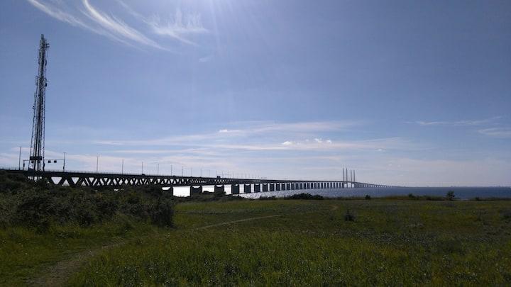 Öresund Bridge connecting Malmö and Copenhagen